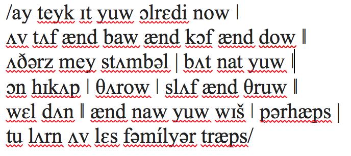 transcription of poem